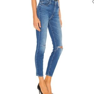 MOTHER The Looker Skinny Distressed Jeans